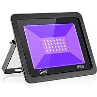 UV LED Black Lights Flood Bulbs 30W 395nm Ultraviolet Lamp IP66-Waterproof Blacklight Purple Glow In The Dark Paint…