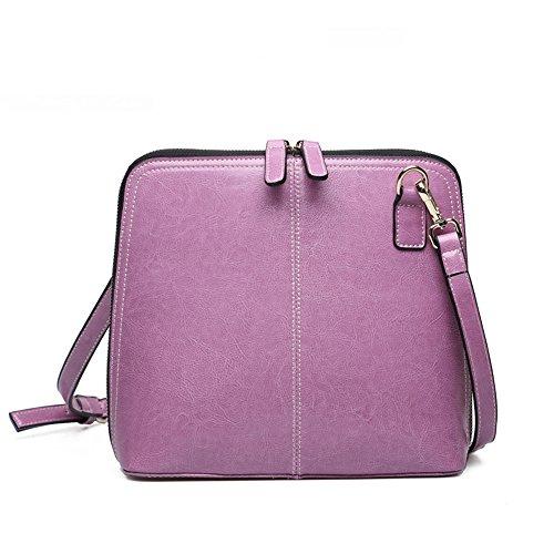 De Dama GWQGZ Moda Casual Bolso Retro Violeta Violet Nueva 1XqwOp