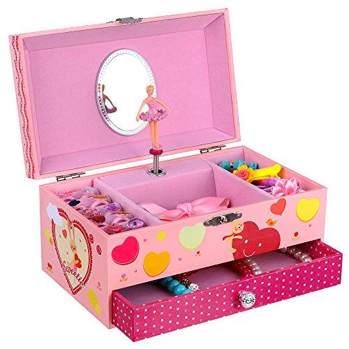 SONGMICS Ballerina Music Jewelry Box for Little Girls ...