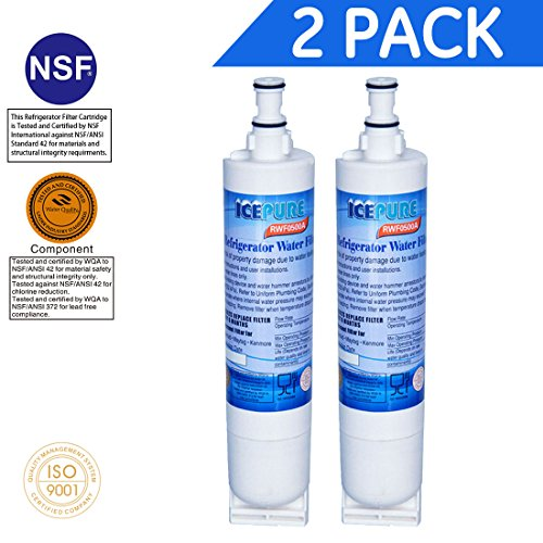 icepure premium replacement water filter compatible with whirlpool pur for kitchenaid maytag whirlpool