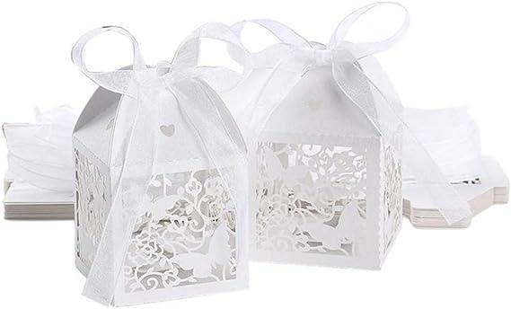 Amazon.com: YURASIKU 50pcs Hollow Butterfly Wedding Favor Box Sweet Gift Candy Box for Anniversary Baby Shower Quinceanera: Home & Kitchen
