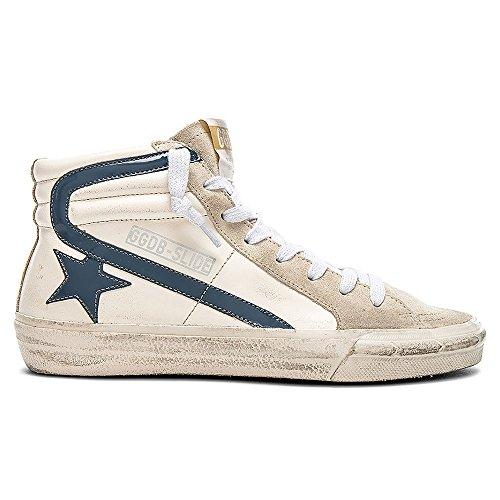 Golden Goose - Hombres Sneakers Slide 2017 Cream / Gray Patent Star