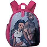 Africa American Lovers Double Zipper Waterproof Children Schoolbag Backpacks With Front Pockets For Kids Boy Girl
