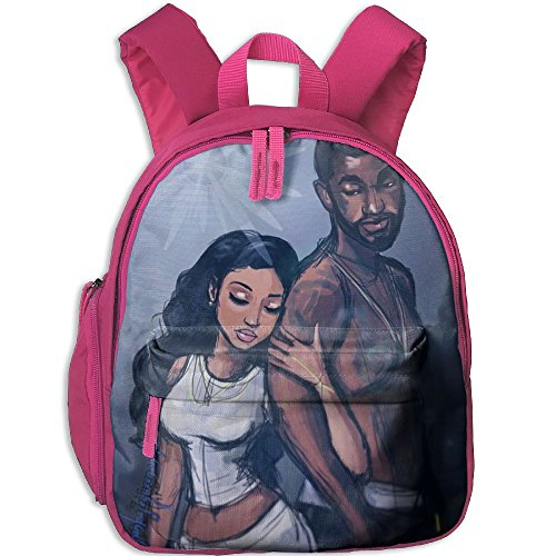 Africa American Lovers Double Zipper Waterproof Children Schoolbag Backpacks With Front Pockets For Kids Boy Girl by TPXYJOF
