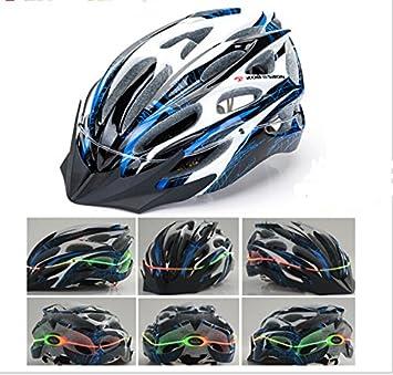 Cascos de bicicleta de montaña en forma integral EPS casco con brillante luz LED para bicicleta