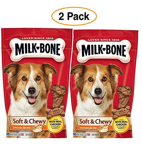 (Milk-Bone Soft & Chewy Real Chicken Dog Treats - 2 Pack )