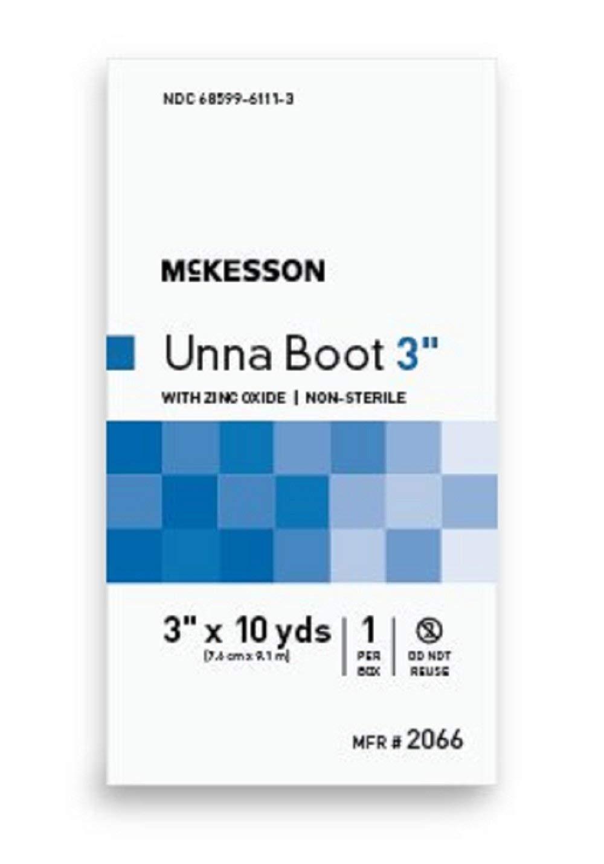 McKesson - Unna Boot McKesson 3 Inch X 10 Yard Cotton Zinc Oxide NonSterile - 12/Case - McK
