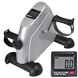 Mini Pedal Exerciser Bike Fitness Exercise Cycle LCD Counter Leg/Arm Stationary