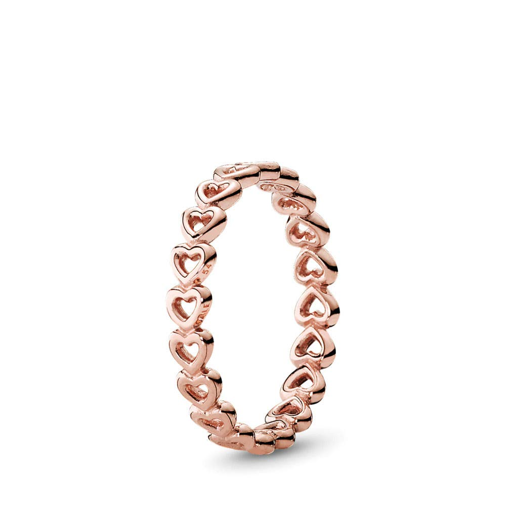 PANDORA Linked Love Ring, PANDORA Rose, Size 7.5 by PANDORA