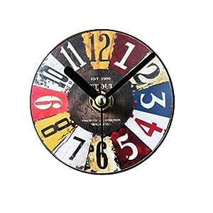 LIZHIHUI Relojes de Pared Retro Imanes de Nevera Etiqueta Creativa ...