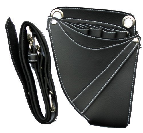 Hairdressing Tools Bag Holster/Pouch. Black (Black with Diamonds) AWAN TRADERS HL0