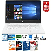 LG 13Z970-U.AAW5U1 gram Intel i5 8GB RAM 256GB SSD 13 Laptop, White + Elite Suite 17 Standard Software Bundle (Corel WordPerfect, PC Mover,PDF Fusion,X9) + 1 Year Extended Warranty