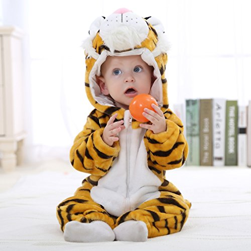 IDGIRL baby girls and boys' Flannel Cotton rompers Tiger-100CM Tiger 19-24 Months by IDGIRL (Image #3)