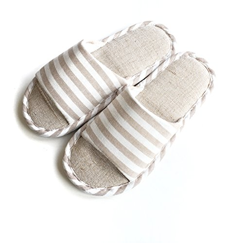 Slippers Casual Flax Cotton House and White Indoor Women's Men's Zelten wq0TXSx