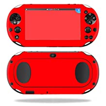 MightySkins Protective Vinyl Skin Decal for Sony PS Vita (Wi-Fi 2nd Gen) wrap cover sticker skins Solid Red