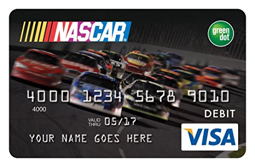 green dot nascar reloadable prepaid visa card amazoncom credit cards - Prepaid Visa Cards Near Me