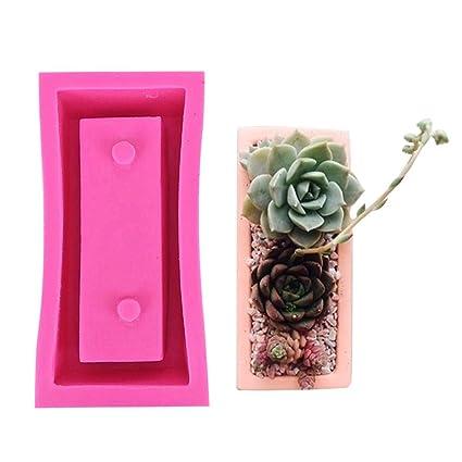 Molde de silicona para macetas, molde rectangular reutilizable, moldes de hormigón, moldes para