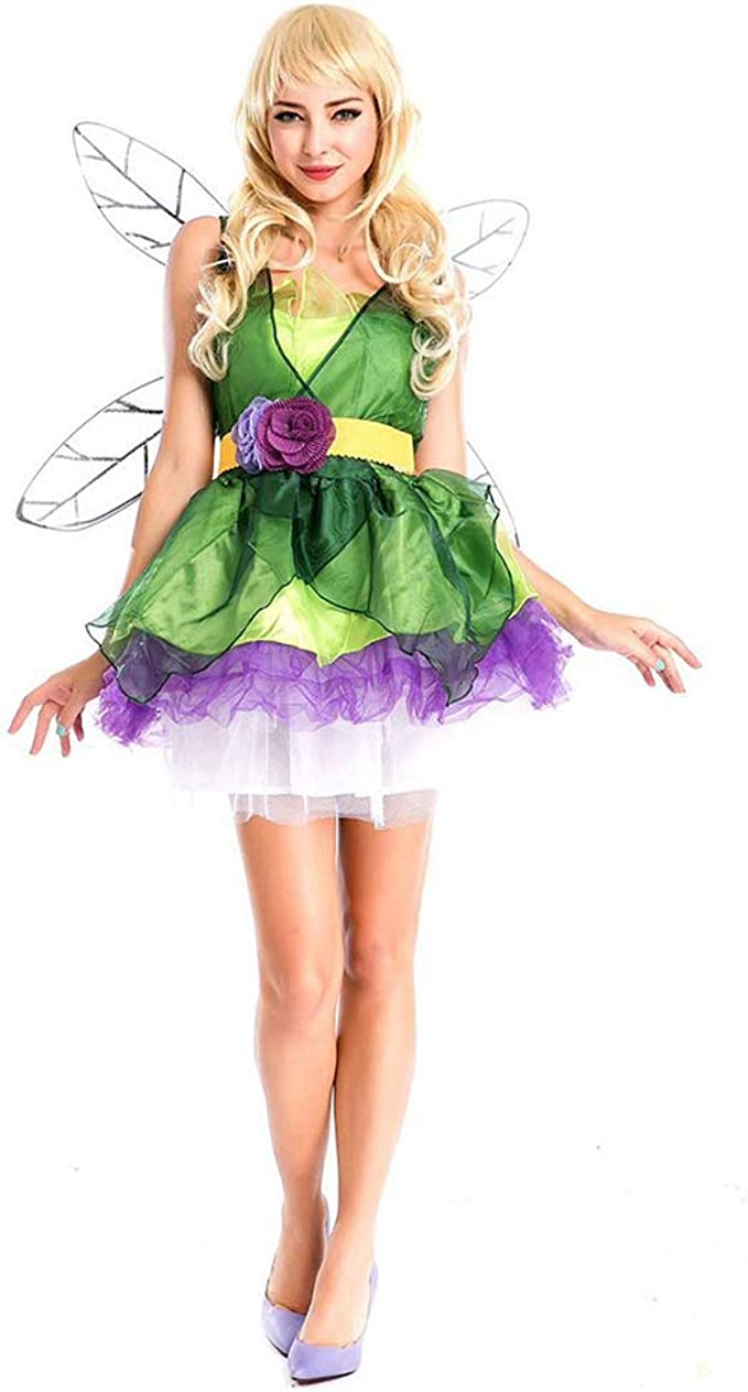Lbellay Duende verde bosque Disfraz de cosplay de halloween ...