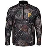 Majestic The Woods Pittsburgh Pirates Camo 1/2 Zip Jacket