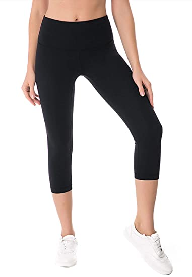 9244a73f91 Ecupper Women's Yoga Capri Pants High Waist Tummy Control Stretch ...