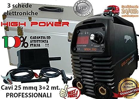 Soldador inverter 160 A welditalia VALIG.Cables 3 + 2 mt. Electrodo: Amazon.es: Bricolaje y herramientas