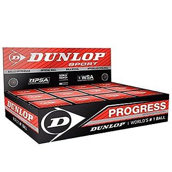 Dunlop Lot de 12 balles de squash qualité professionnelle