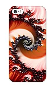 Awesome Design Red Fractal Hard Case Cover For Iphone 6 4.7(3D PC Soft Case)