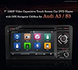 XTRONS® Double 2 DIN Navigation DVD Player Car Radio Stereo Multi-touch Screen GPS 1080P Bluetooth for Audi A3 S3