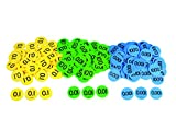 Inspirational Classrooms 3133405'Decimal Place Value Counters Educational Toy (Pack of 300)