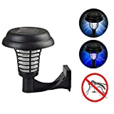 MIYA Solar Mosquito Killer Lamp Outdoor 2 In 1 Portable Electric LED Mosquito Bug Zapper Repellent UV Light Insect Pest Garden Yard Lawn Path-Wall-mounted