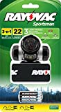 Rayovac SPHLTLED-BB Sportsman 22 Lumen 3 in 1 Headlight with 3 AAA Batteries