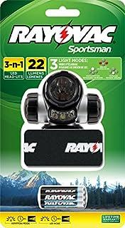 RAYOVAC Sportsman 22 Lumen 3 in 1 Headlight with 3 AAA Batteries, SPKHL3AAA-BA (B001F0RCIC) | Amazon Products