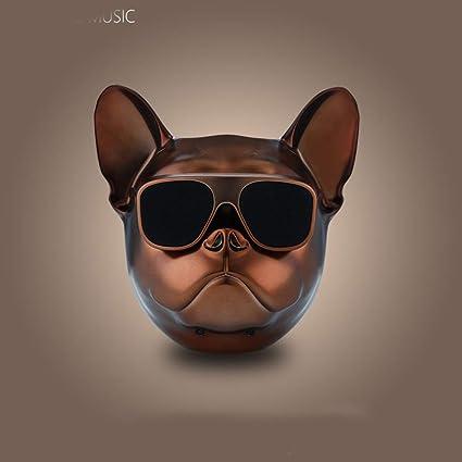 Lcz Intelligente Überdimensionierte Bulldogge Bluetooth Lautsprecher Ganzkörper Hund Splitter Resistenter Lautsprecher Hundekopf Tragbarer Fm Radio Black H M Sport Freizeit