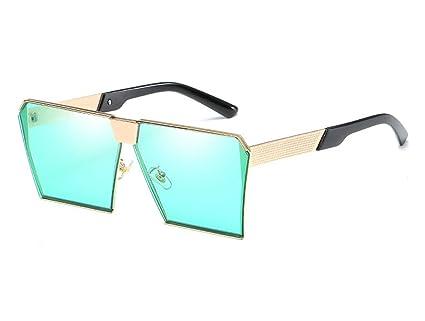 Retro Metal Caja Grande Gafas De Sol Europa Tendencia Moda Gafas De Sol Viaje Conducción Espejo