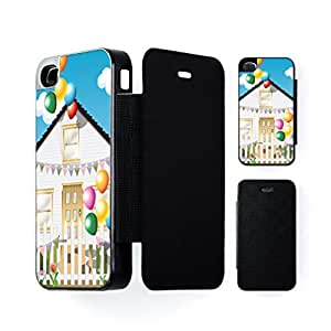 Birthday House Black Flip Case for Apple? iPhone 4 / 4s by Nick Greenaway + FREE Crystal Clear Screen Protector