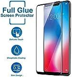 Designerz Hub Edge to Edge 9h Hardness 5D Perfect Fitt Anti Fingerprint and Oil Stains Coating Tempered Glass for Vivo Y81 (Black)
