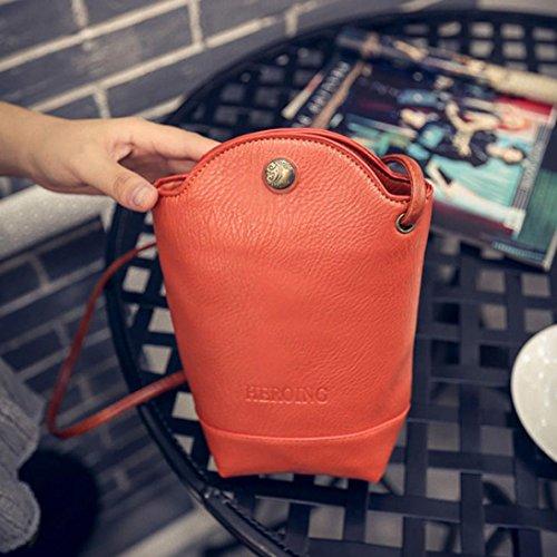 Women Slim Bags Green Bags Orange Small YJYdada Body Handbag Shoulder Messenger Bags Crossbody SwAWUd