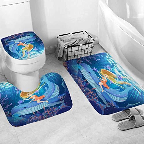 OrchidAmor 3pcs Non-Slip Bath Mat Bathroom Kitchen Carpet Doormats Decor 2019 New Fashion