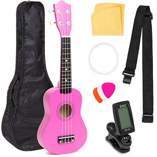 Kids Electric Guitar Kit Toy Play Set with 6 Demo Tunes, Microphone, Wireless Amp, AUX. Educative Beginner Musical Instrument Set for Children. Christmas Gift for Boy & Girls (Pink)