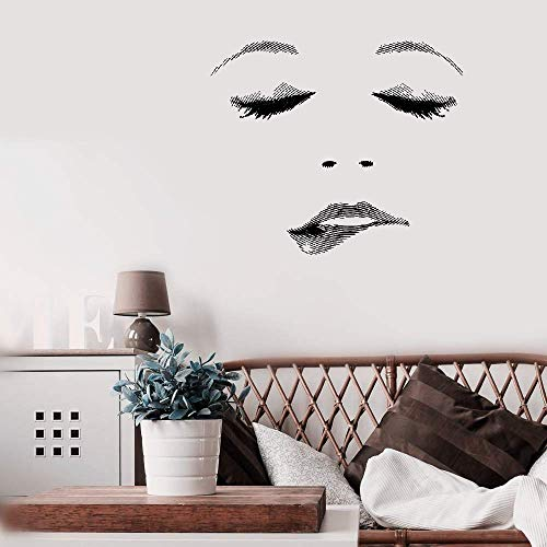 Aweyu Wall Decal Quote Words Lettering Decor Sticker Wall Vinyl Sexy Beauty Salon Woman Face Eyelashes Lips