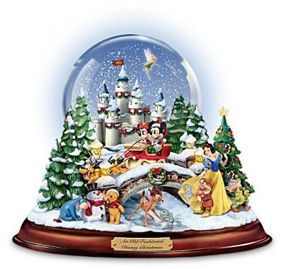 Disney figures Snow Globe 'Musical Snowglobe Showcasing 13 Classic Characters by Bradford Exchange