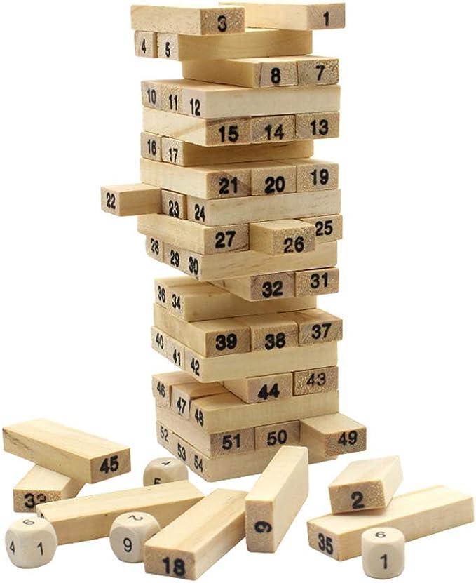 YUHEN Torre Tambaleante, Juego de Habilidad, Juego de Mesa, Juego de observación y lógica, Juguete de Sobremesa Educativo para Niños y Niñas: Amazon.es: Deportes y aire libre