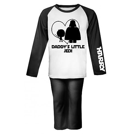 Daddy s Little Jedi Star Wars personalizado pijama infantil pijama infantil personalizado Pjs Regalos de