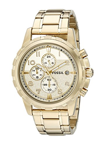 Fossil-Mens-FS4867-Dean-Chronograph-Stainless-Steel-Watch-Gold-Tone