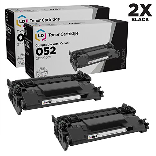 LD Compatible Replacement for Canon 052 Pack of 2 Standard Yield Black Laser Toner Cartridges for use in ImageCLASS LBP214dw, LBP215dw, MF424dw, MF426dw & MF429dw by LD Products