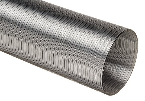 Naples UK Aluminium Semi Rigid Flexible Duct Hose For 100mm Kitchen Cooker Hood Ducting 1.5 Metre Length 102mm Diameter Verplas