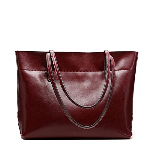 Mulier, Borsa a mano donna, Wine-red B (Rosso) - HB-018-Winered-B Wine-red B