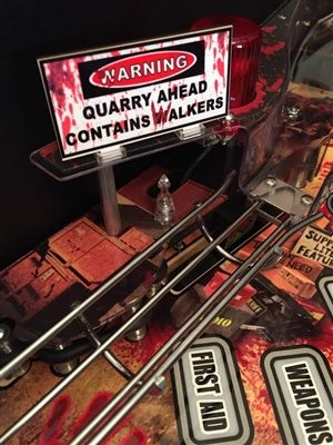 Warning Sign MOD for Stern's The Walking Dead pinball machine by ULEKStore