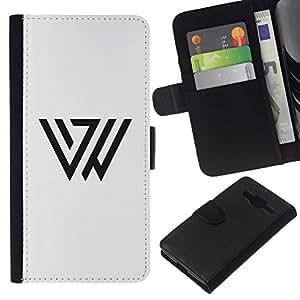 All Phone Most Case / Oferta Especial Cáscara Funda de cuero Monedero Cubierta de proteccion Caso / Wallet Case for Samsung Galaxy Core Prime // Triángulo Marcos