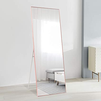 "ONXO Full Length Mirror Large Floor Mirror Standing or Wall-Mounted Mirror  Dressing Mirror Frame Mirror for Living Room/Bedroom/Cloakroom (65""X22, ..."
